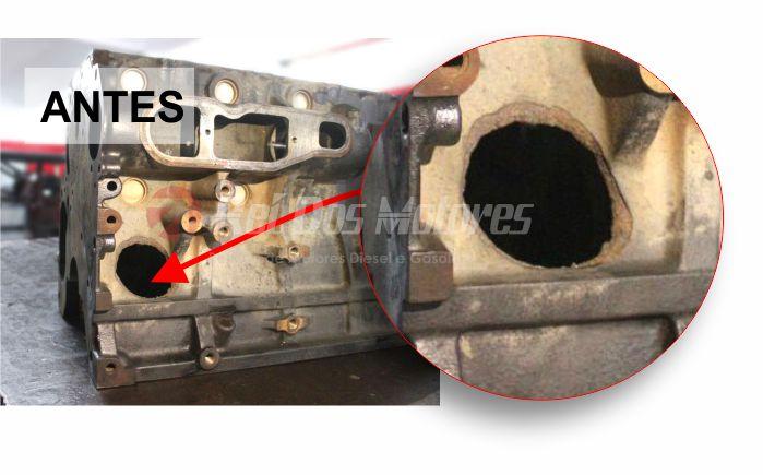 Solda de Bloco do Motor 2.0 16v Turbo Amarok   antes