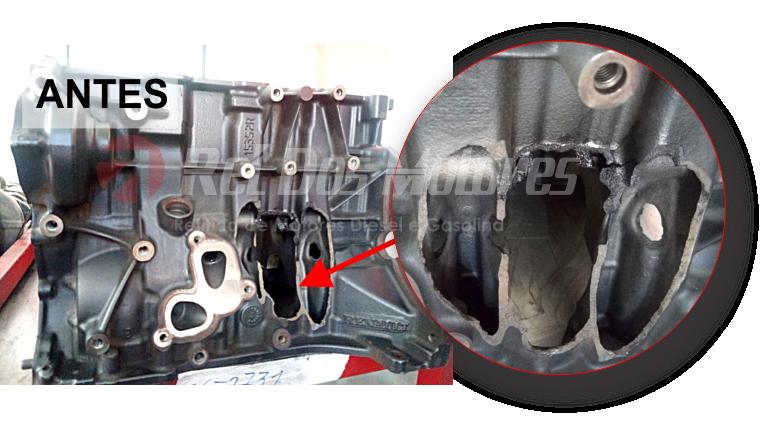 Recuperação de blocos do Motor 2.0 16v Turbo Amarok   antes